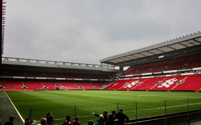 Anfield stadium is one of the most famous grounds in world soccer.