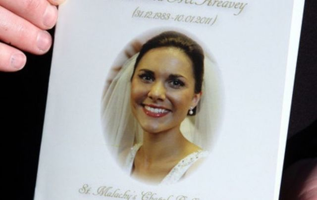 The order of service for Michaela McAreavey\'s funeral mass in 2011.