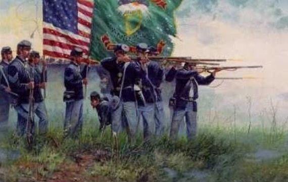 The Fighting Irish, the 69th Brigade, during the US Civil War.