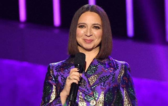 January 28, 2020: Maya Rudolph speaks onstage during the 62nd Annual GRAMMY Awards in Los Angeles, California.