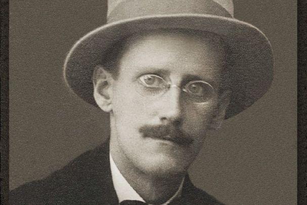 A portrait of James Joyce in Zurich in 1915.