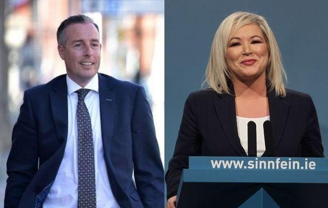 DUP\'s Paul Givan and Sinn Fein\'s Michelle O\'Neill.
