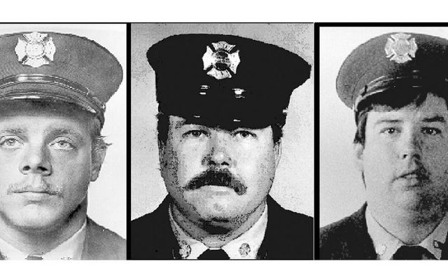 FDNY firefighters Harry Ford, Brian Fahey, and John Downing.