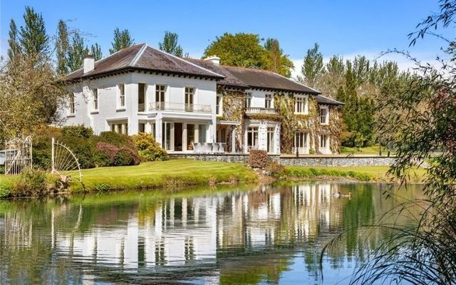 Kilcreene Lodge sits on a 10-acre estate and overlooks its own private lake.