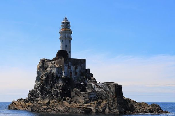 Fastnet Lighthouse off the coast of Co Cork today.