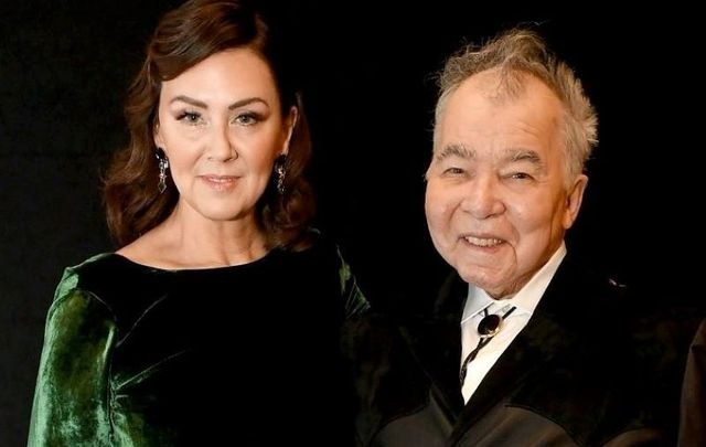 January 26, 2020: Fiona Whelan Prine and John Prine attend the 62nd Annual GRAMMY Awards at Staples Center in Los Angeles, California.