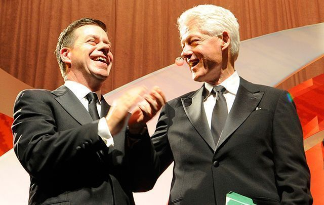 Declan Kelly with former President Bill Clinton.