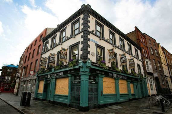 The Norseman pub in Temple Bar in April 2020. Some Irish pubs have been shuttered since March last year.