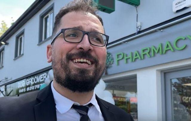 Fadi Almasri outside of his Ballon Pharmacy in Ballon, Co Carlow.