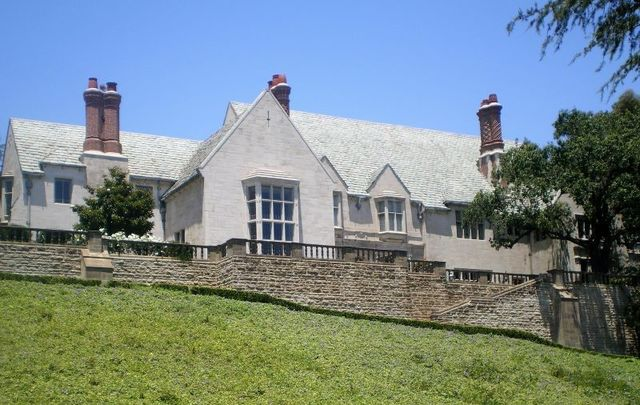 The Greystone Mansion in Beverly Hills, California.