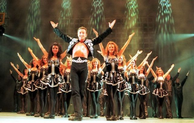 July 2, 1996: Michael Flatley with his new Irish dance show Lord of the Dance at the opening night in the Point Depot Theatre Dublin.
