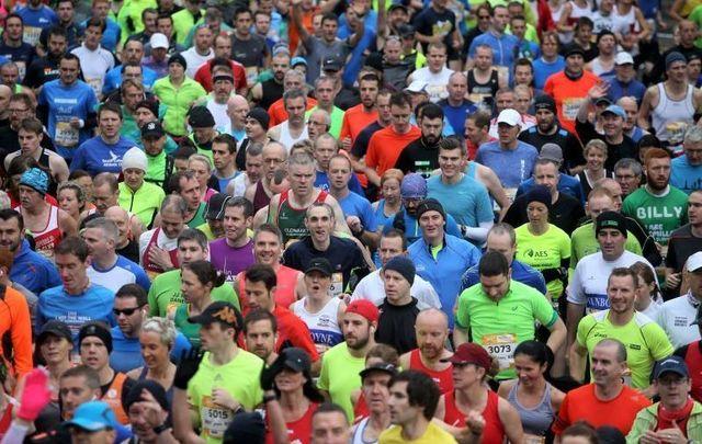 Runners at the Dublin Marathon 2015.