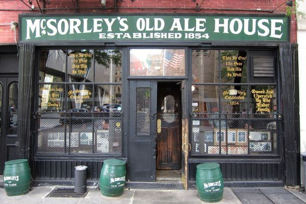 McSorley\'s Old Ale House on E 7th Street in New York City.