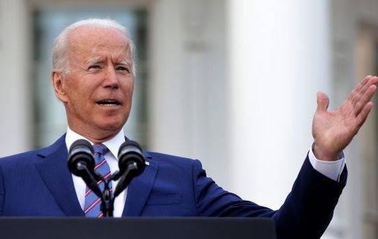 July 4, 2021: President Joe Biden speaks during a Fourth of July BBQ event to celebrate Independence Day at the South Lawn of the White House in Washington, DC.