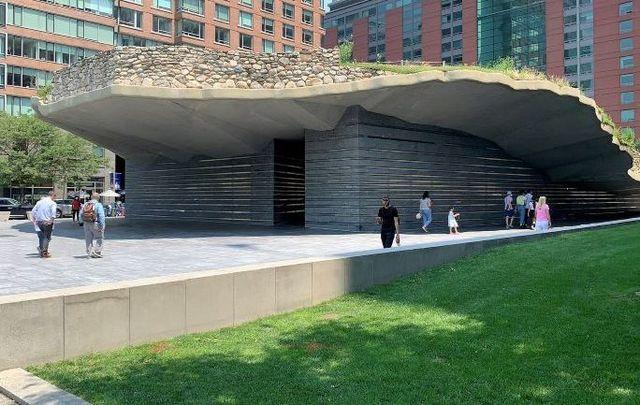 The Irish Hunger Memorial in New York City.