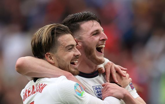 Jack Grealish (left) and Declan Rice (right) both represented Ireland earlier in their careers.