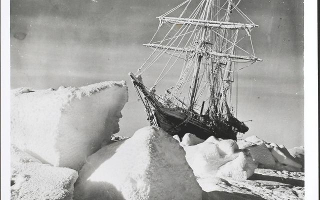 Endurance trapped in pack ice in the Weddell Sea in 1915.
