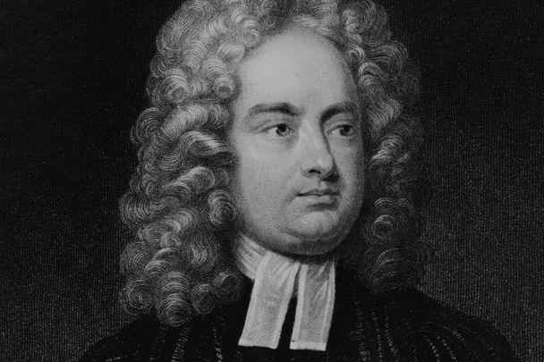 A portrait of Jonathan Swift circa 1719.