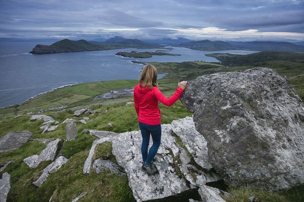Enjoying the view on Valentia Island, off County Kerry.