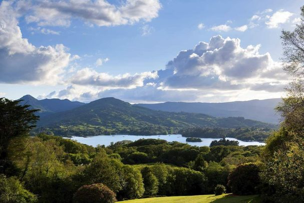 A view of Bantry Bay and the Caha Mountains from Glengariff Golf Course.