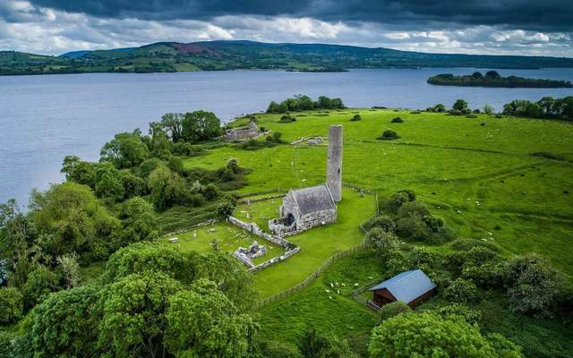 Holy Island, or Inis Cealtra, Lough Derg, County Clare.