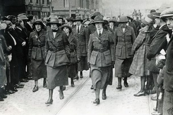 Members of Cumann na mBan (meaning The Women\'s Council) during Ireland\'s War of Independence.