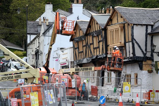 """Building the sets for \""""Disenchanted\"""" in Enniskerry, County Wicklow."""