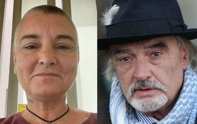 Sinead O\'Connor in June 2021 and Ian Bailey in October 2020.