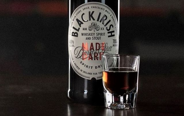 Black Irish Spirit is a blend of Irish whiskey and stout.