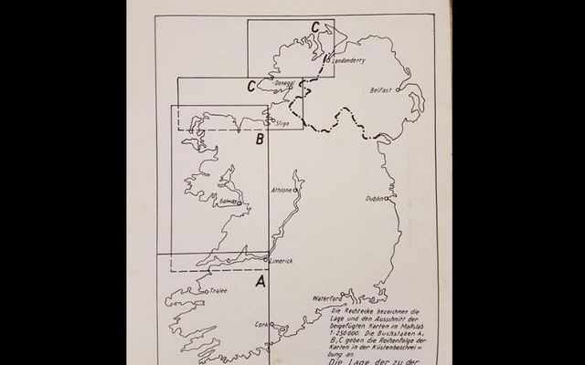 A map of Ireland completed by the German military in advance of a potential invasion.