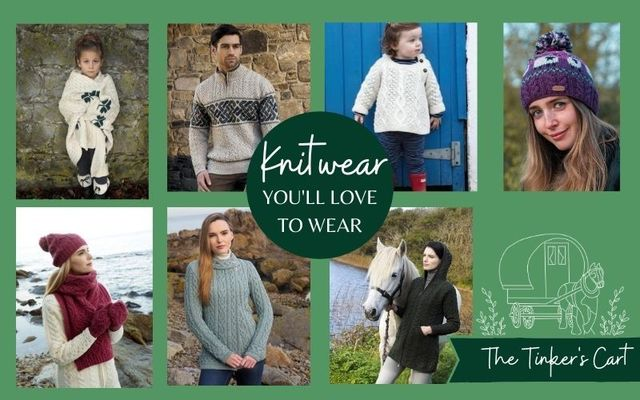 Shop stylish and traditional Irish knitwear from The Tinker\'s Cart