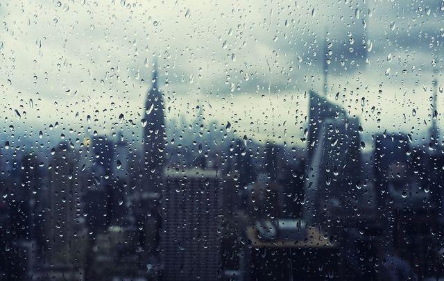 A rainy New York City.