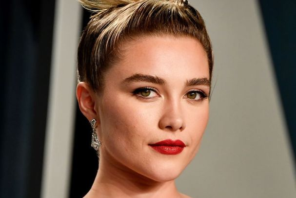 Florence Pugh, pictured here at the 2020 Vanity Fair Oscar Party