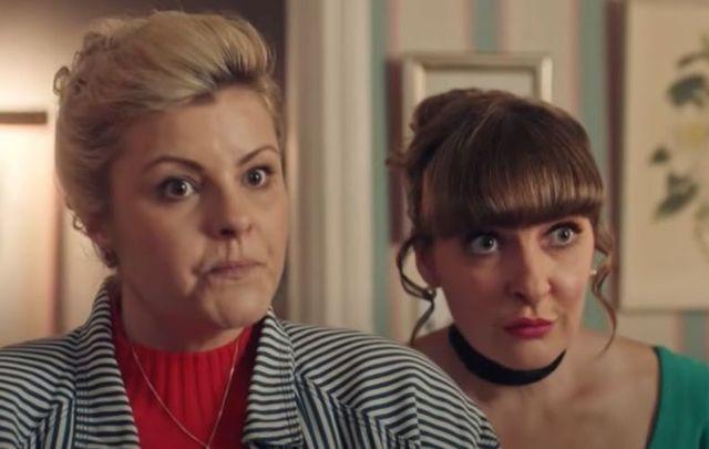 Ma Mary (Tara Lynne O\'Neill) and Aunt Sarah (Kathy Kiera Clarke) of Derry Girls.