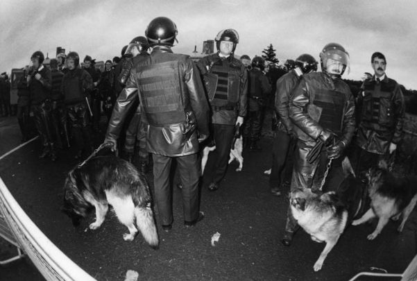Members of the Royal Ulster Constabulary, photographed in 1988.