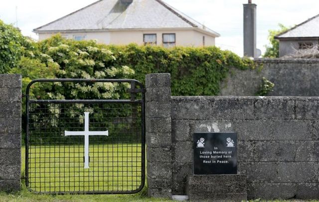 A memorial at the Tuam Mother and Baby Home in Co Galway where Anne Kelly Silke lived for a period.