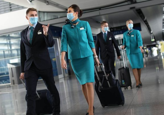 Aer Lingus cabin crew ready to take off!