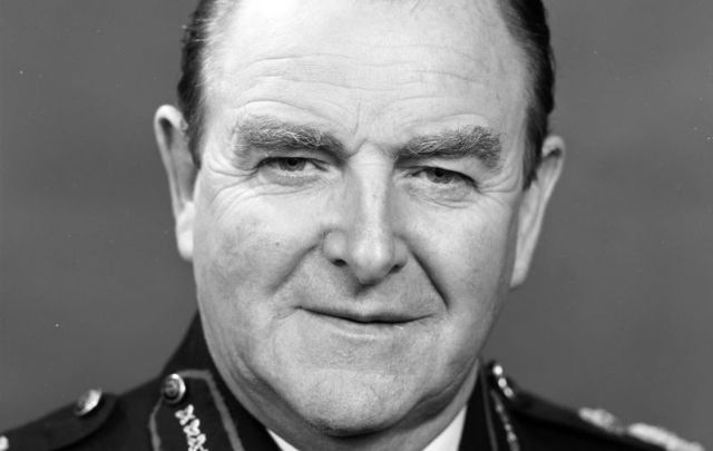 Sir John Jack Hermon, former Chief Constable of the RUC, pictured here in 1989.
