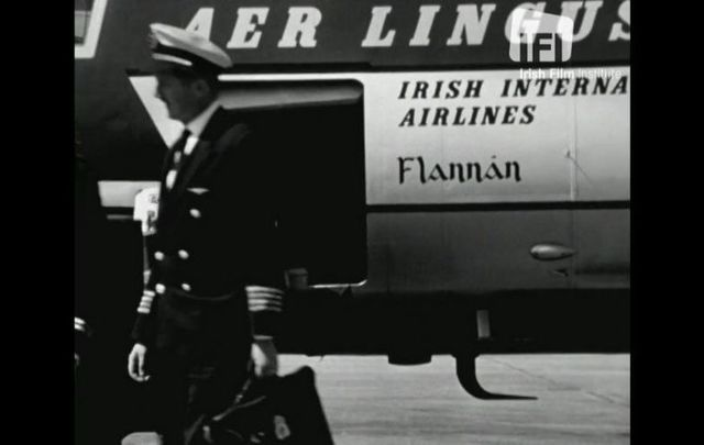 Scenes from Dublin Airport in 1962. All of the airplanes in the Aer Lingus fleet are named after Irish saints.
