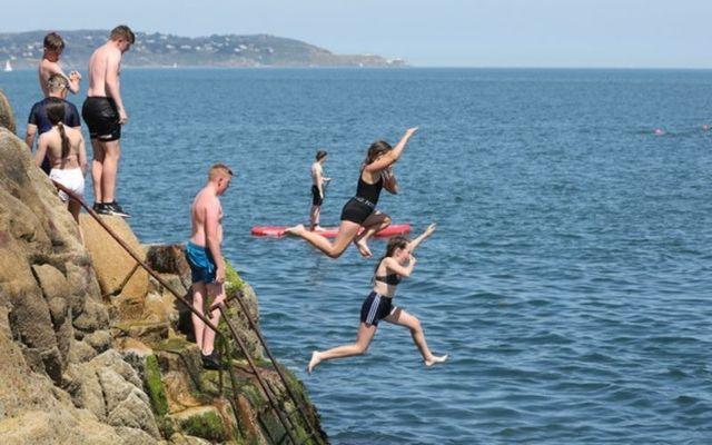 Members of the public enjoy Ireland\'s recent heat wave.