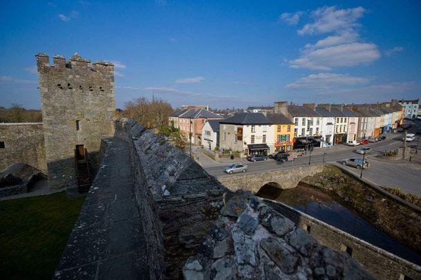 A view from Cahir Castle, in Cahir, County Tipperary.