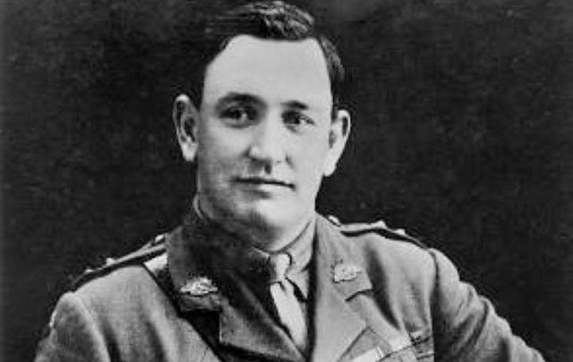 Studio portrait of Australian World War I Victoria Cross recipient, Lawrence Dominic McCarthy, circa 1920.