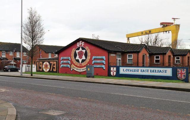 January 20, 2021: Freedom Corner in loyalist east Belfast in Northern Ireland.