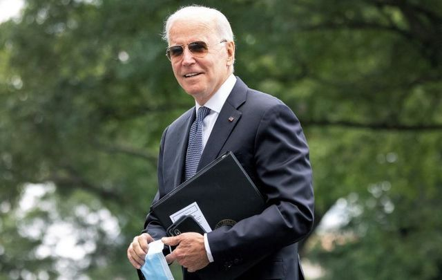 August 2, 2021: President Joe Biden returns to the White House in Washington, DC.after a weekend trip to Camp David.