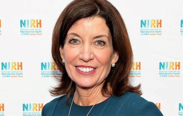 April 30, 2019: Lt. Governor of New York Kathy Hochul poses for a photo during the National Institute for Reproductive Health\'s Champion of Choice luncheon at The Ziegfeld Ballroom in New York City.