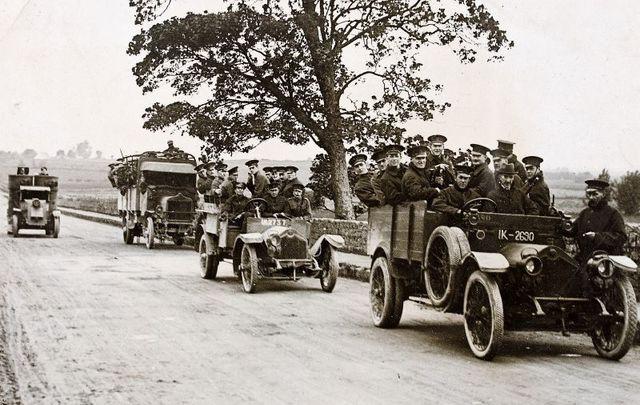 R.I.C. military and armoured car leaving Limerick circa 1920.