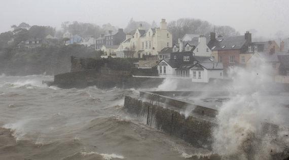 Hurricane Ophelia hits Kinsale, County Cork, in 2017.