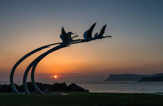 The Children of Lir: Just one of the Irish myths and legends connected to Ballycastle, in County Antrim.