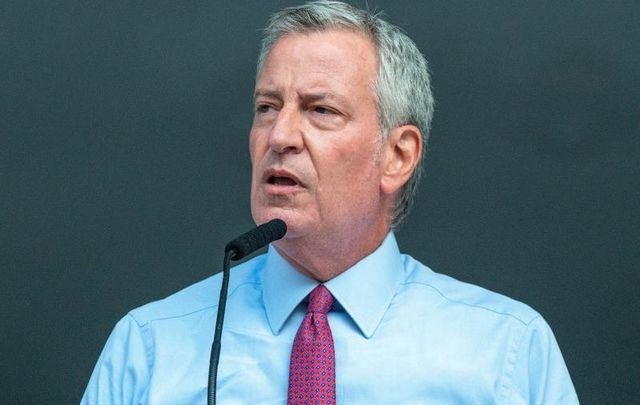 August 3, 2021: New York City Mayor Bill DeBlasio in the Bronx borough of New York City for National Night Out.