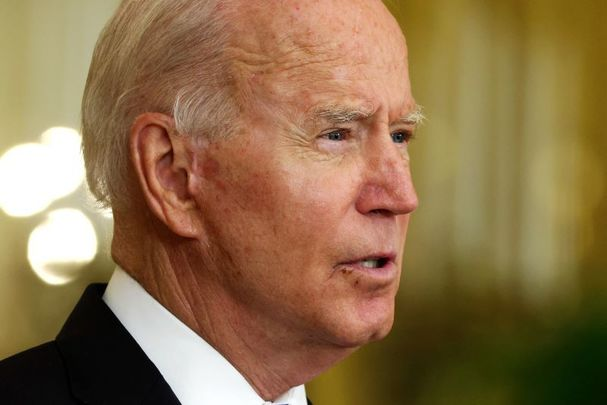 August 11, 2021: U.S. President Joe Biden speaks during an East Room event at the White House in Washington, DC.